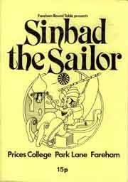 Front cover for Sindab the Sailor pantomime programme